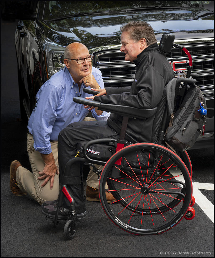 NBC Today Show correspondent Harry Smith interviews Sam before jumping in the car for a drive through morning Manhattan traffic.