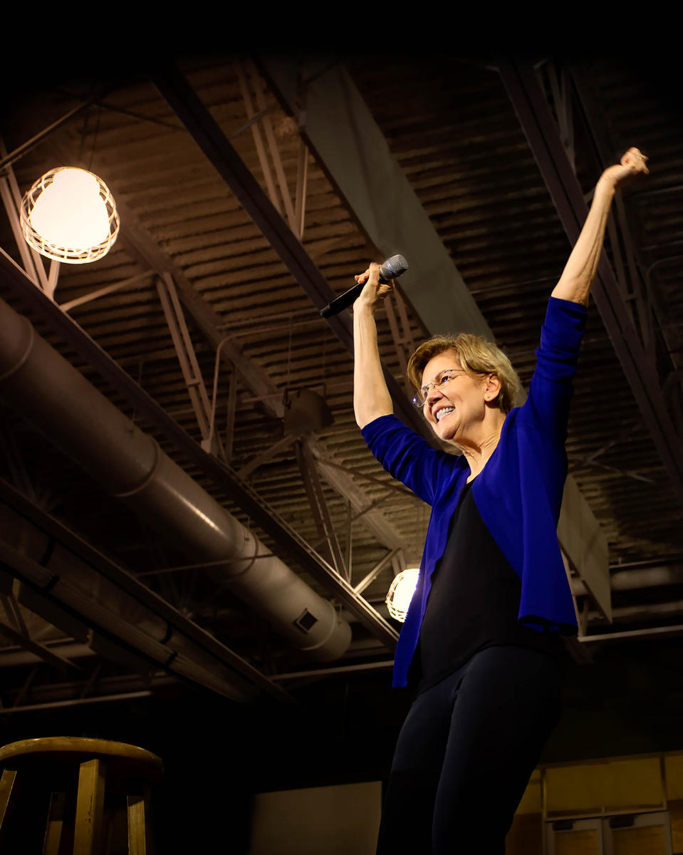 Dream big and fight hard! Elizabeth Warren, Democratic candidate for president, rallies voters in northern Virginia.