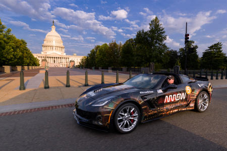 Sams children were very young when he was injured, so he was never able to drive them in a car like he had hoped  until the morning of August 27, 2017, when Sam took his kids on a tour of Washington D.C. in the Corvette. Here, Sam drives past the U.S. Capital with his daughter Savannah in the co-pilot seat.